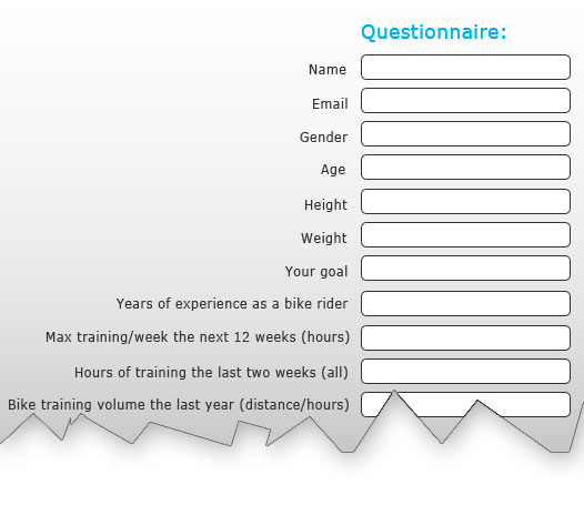 ImproveCycling Questionnaire